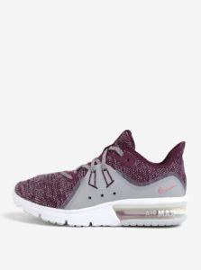 Vínové dámske melírované tenisky Nike Air Max Sequent 3 Running