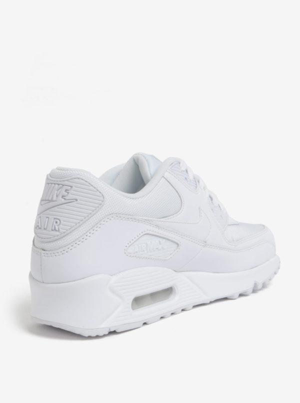Biele pánske kožené tenisky Nike Air Max '90 Essential