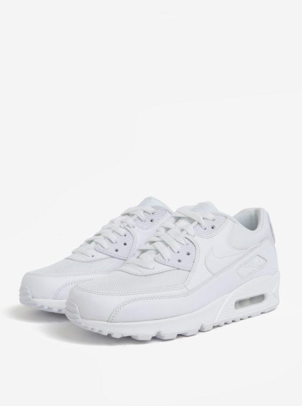 Biele pánske kožené tenisky Nike Air Max  90 Essential  30ebbdbf10
