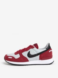 Sivo-červené semišové pánske tenisky Nike Air Vortex