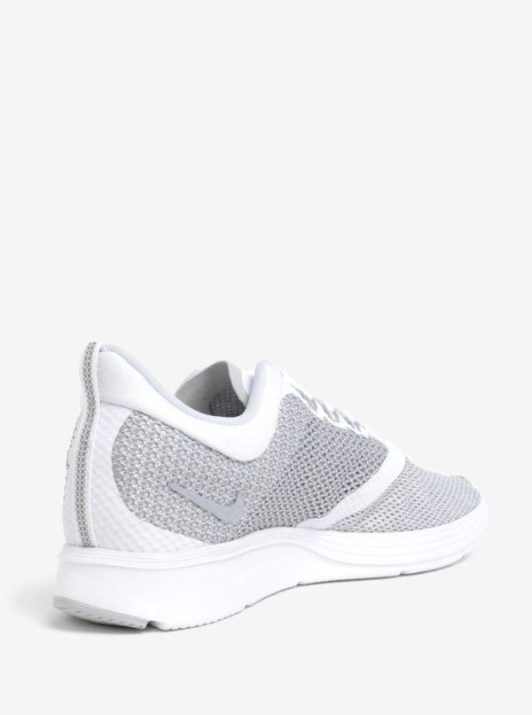Sivo-biele pánske tenisky Nike Zoom Strike Running  38d3461345a