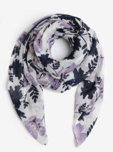Fialovo–biela kvetovaná šatka Pieces Inata