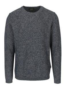 Modrý melírovaný sveter Jack & Jones Originals Uber