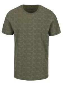 Zelené vzorované tričko s krátkym rukávom Jack & Jones Vincer