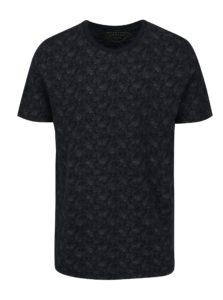 Tmavomodré vzorované tričko s krátkym rukávom Jack & Jones Vincer