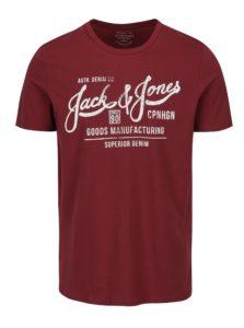 Vínové tričko s potlačou Jack & Jones Slack