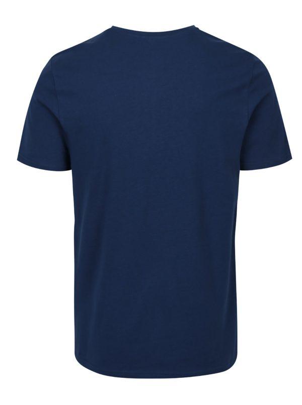 Modré tričko s potlačou Jack & Jones Slack