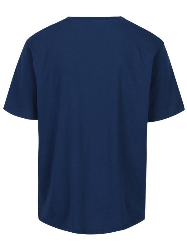 Modré tričko s potlačou Jack & Jones Stencild