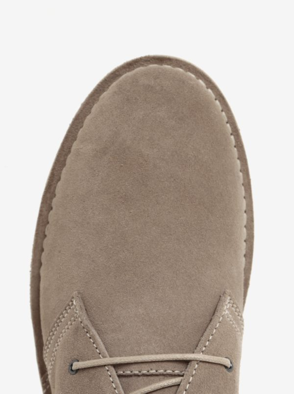 Béžové semišové členkové topánky Jack & Jones Gobi