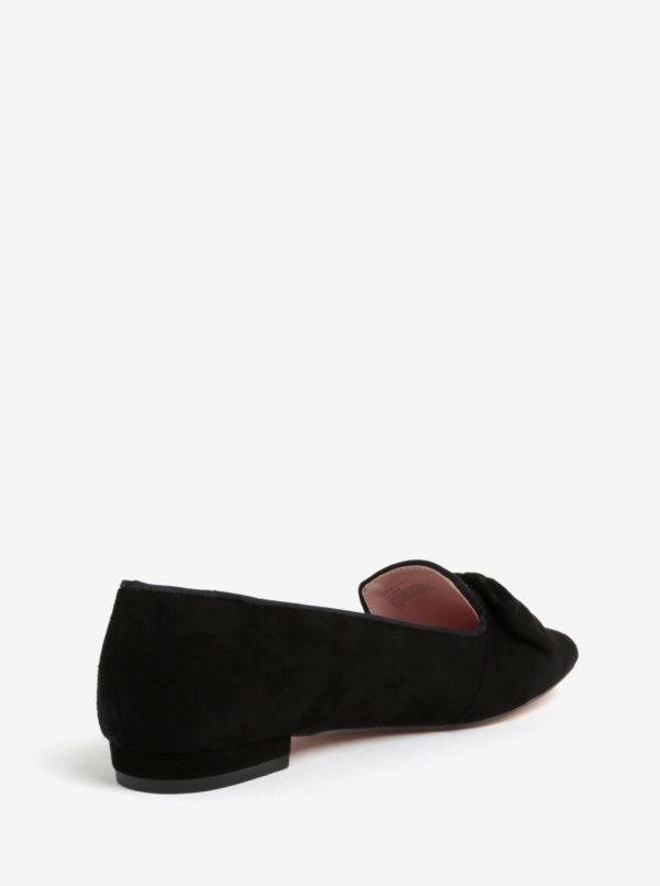 Čierne semišové mokasíny Dune London Softy
