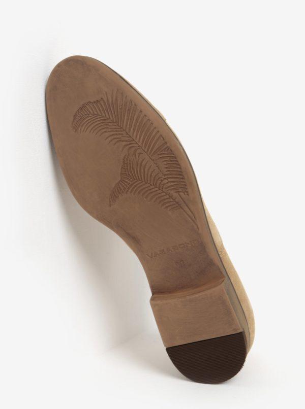 Béžové pánske semišové poltopánky Vagabond Linhope