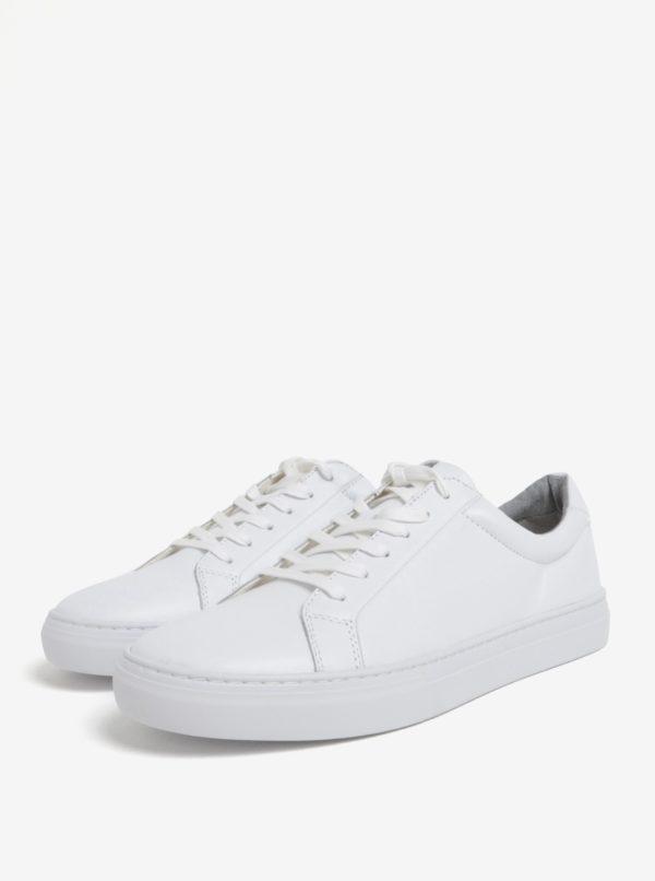 Biele pánske kožené tenisky Vagabond Paul