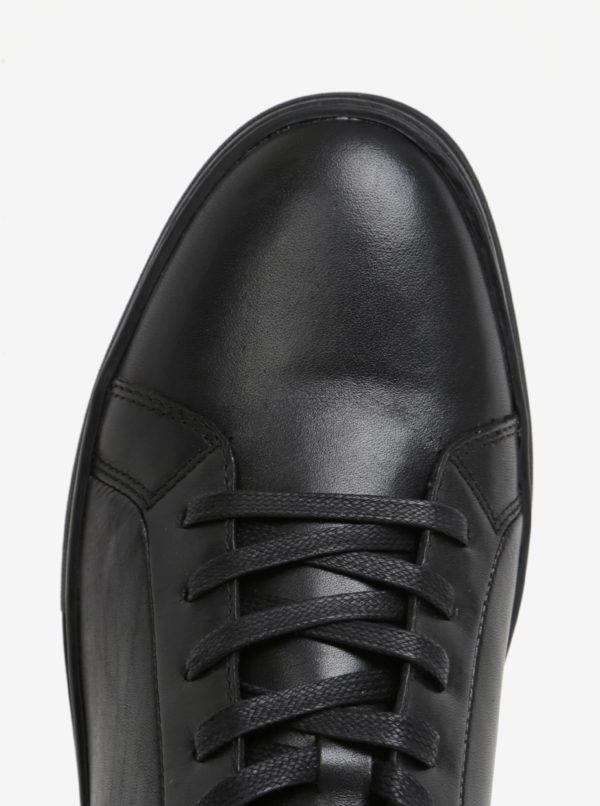 Čierne pánske kožené tenisky Vagabond Paul