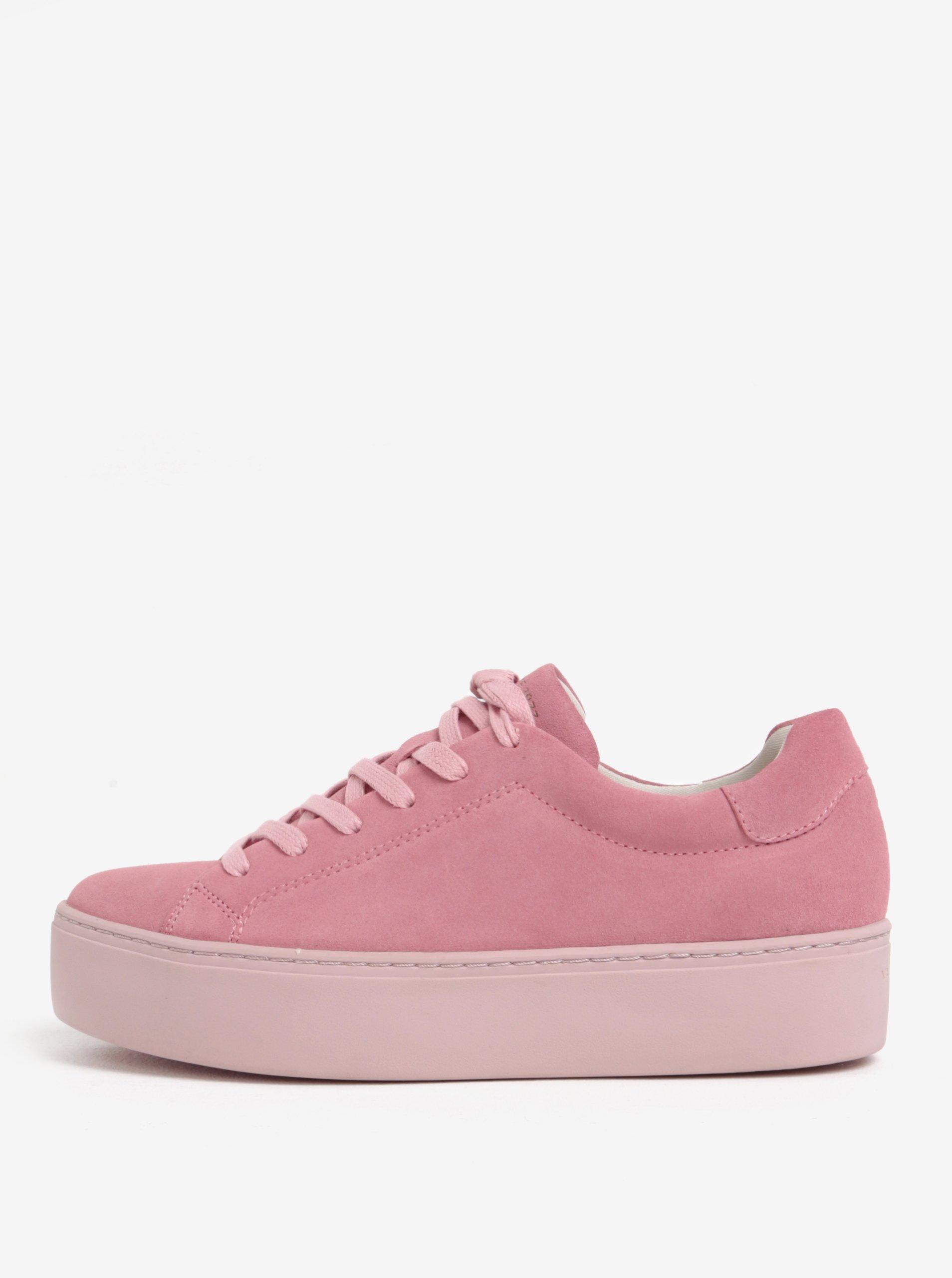 Ružové dámske semišové tenisky na platforme Vagabond Jessie  443bca43fae