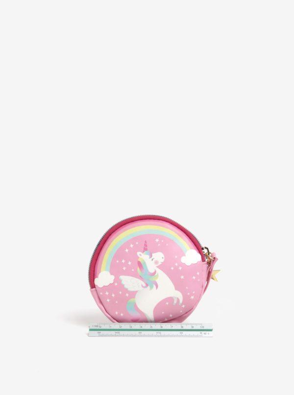 Ružová dievčenská peňaženka s motívom jednorožca Sass & Belle