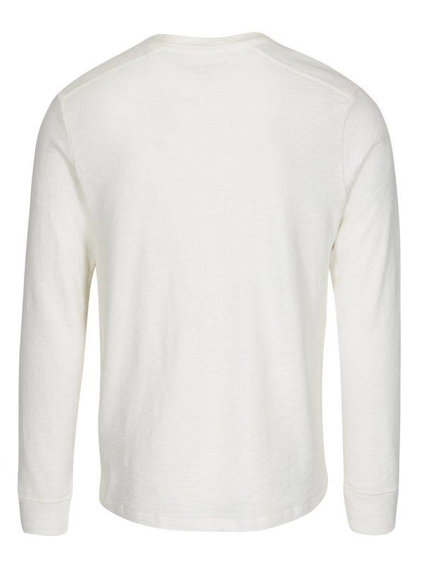 Krémové tričko s dlhým rukávom Selected Homme Grand