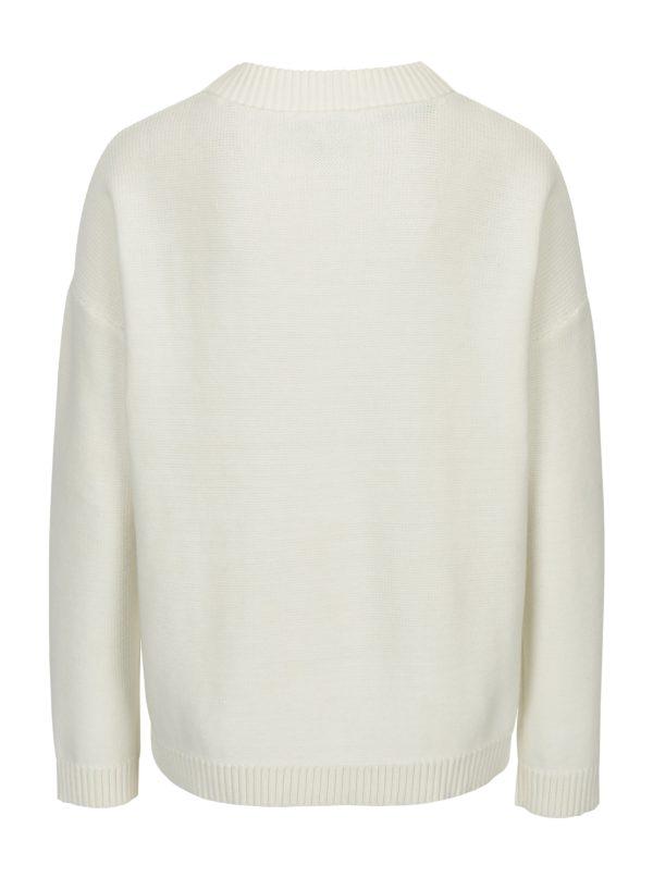 Krémový sveter Selected Femme Margarite