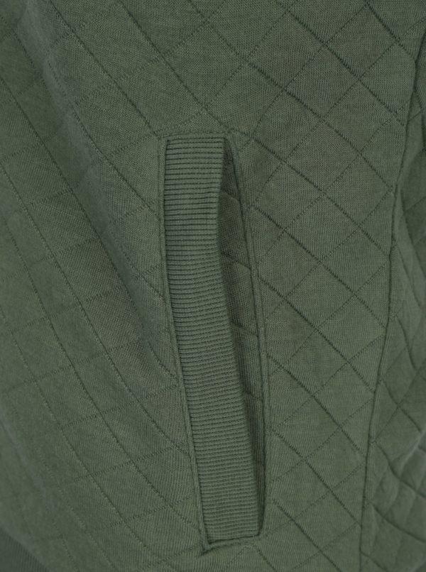 Zelený vzorovaný mikinový bomber ONLY Joyce
