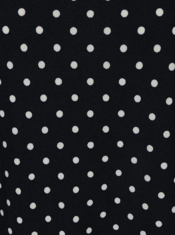 Tmavomodré bodkované oversize tričko s 3/4 rukávom ONLY Elcos
