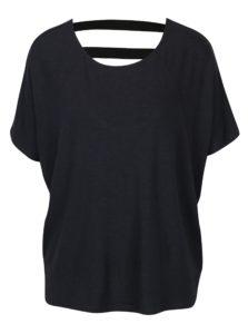 Tmavomodré oversize tričko s elastickými pásmi na chrbte ONLY Moster