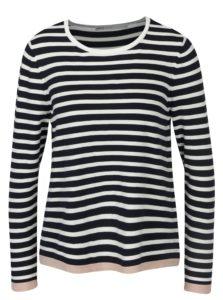 Bielo–modrý pruhovaný tenký sveter ONLY Suzana