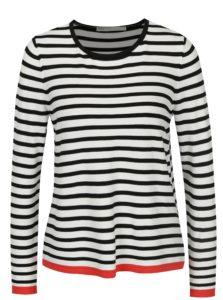 Bielo–čierny pruhovaný tenký sveter ONLY Suzana
