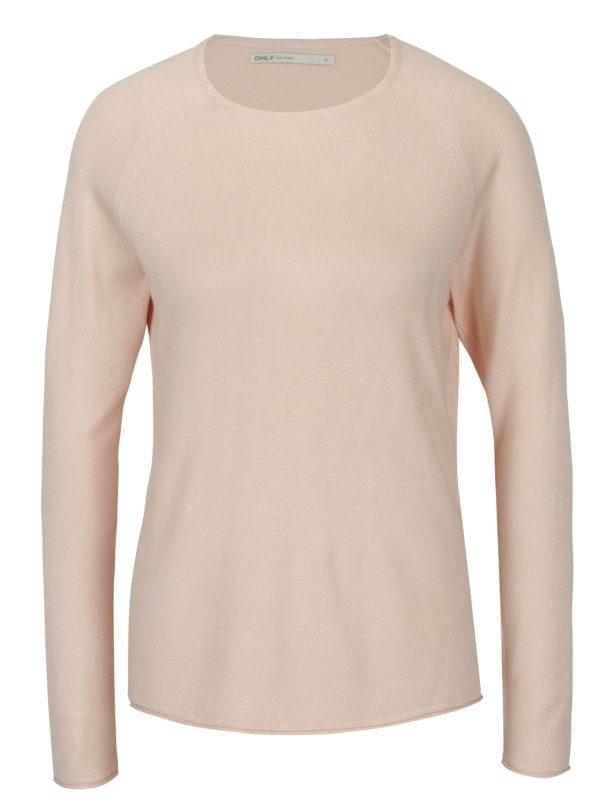 Svetloružový tenký sveter ONLY Mila