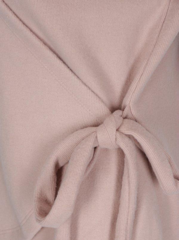 Ružový zavinovací sveter VILA Palona