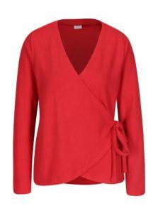 Červený zavinovací sveter VILA Palona
