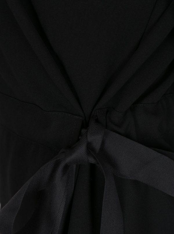Čierna blúzka s mašľou VILA Sarina