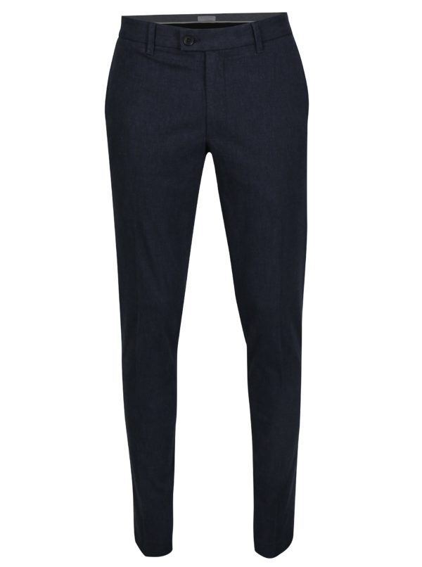 Tmavomodré skinny chino nohavice Selected Homme Gale