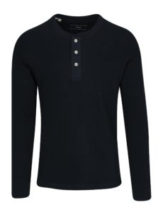 Tmavomodré tričko s dlhým rukávom Selected Homme Grand
