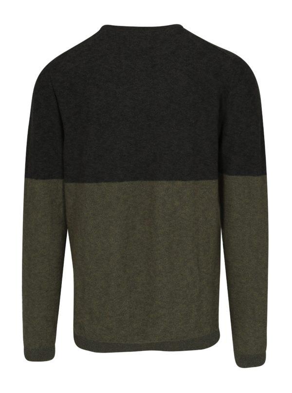 Zelený melírovaný sveter Selected Homme Tyga