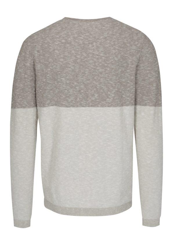 Béžový melírovaný sveter Selected Homme Tyga