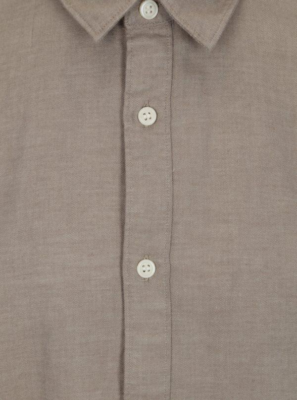 Béžová regular fit košeľa Selected Homme Two Todd