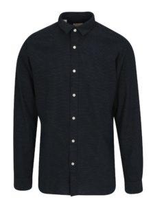 Tmavomodrá bodkovaná slim fit košeľa Selected Homme One Tyler
