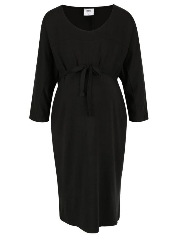 Čierne tehotenské šaty s opaskom Mama.licious Nania