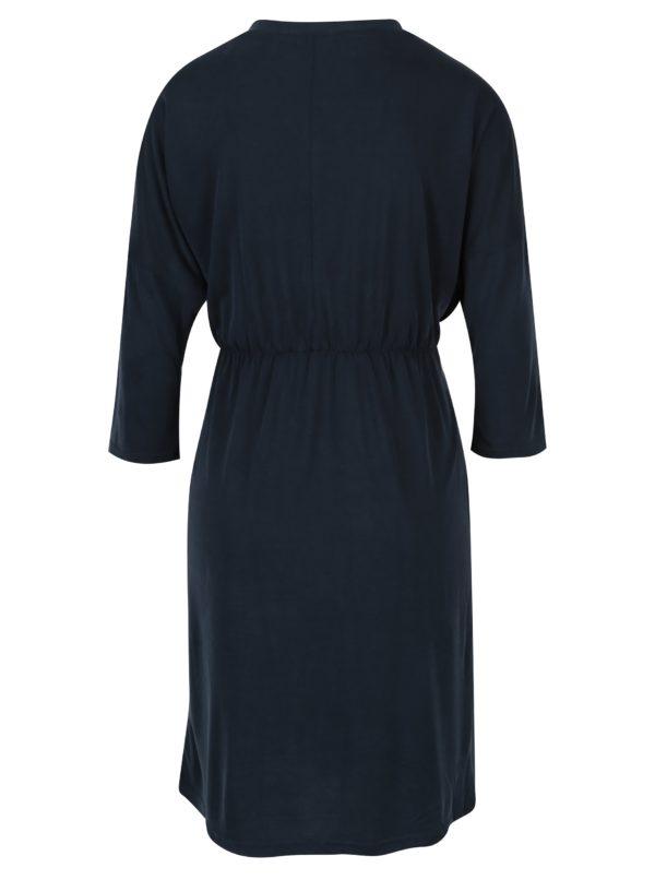 Tmavomodré šaty na dojčenie s opaskom Mama.licious Winona