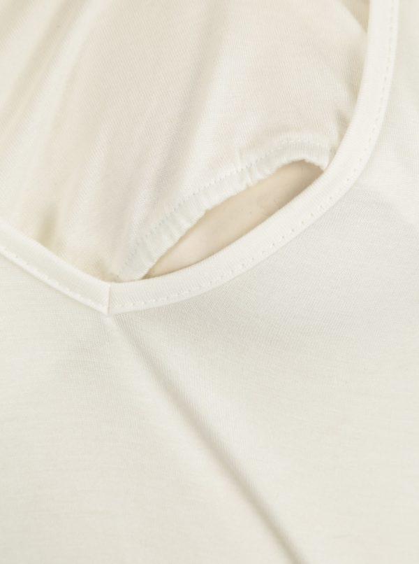 Krémové tričko na dojčenie s krátkym rukávom Mama.licious Willa