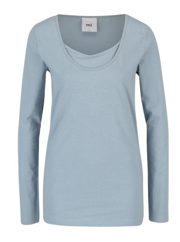 Sada dvoch tričiek na dojčenie v modrej farbe Mama.licious Lea