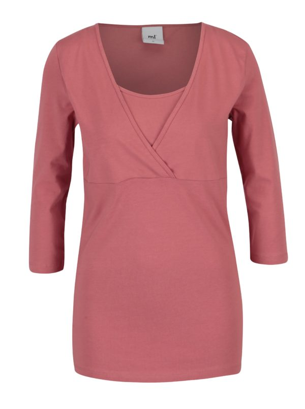 Súprava dvoch tričiek na dojčenie v krémovo–ružovej farbe Mama.licious Lea