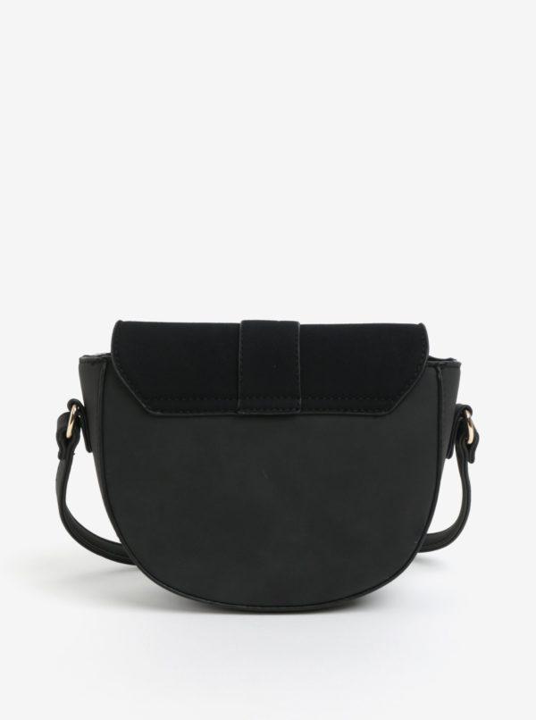 Čierna crossbody kabelka v semišovej úprave VERO MODA Rina