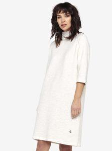 Krémové melírované mikinové šaty s 3/4 rukávom Scotch & Soda