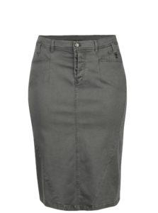 Sivá rifľová sukňa Ulla Popken