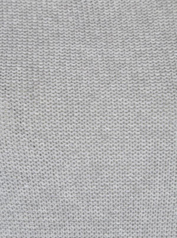 Sivý sveter s véčkovým výstrihom Ulla Popken