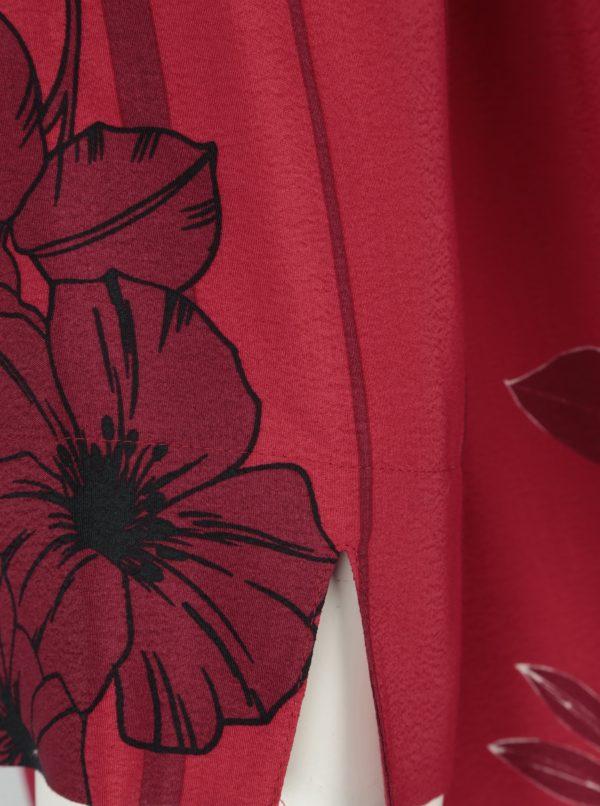 Modro-červená dlhá blúzka Ulla Popken