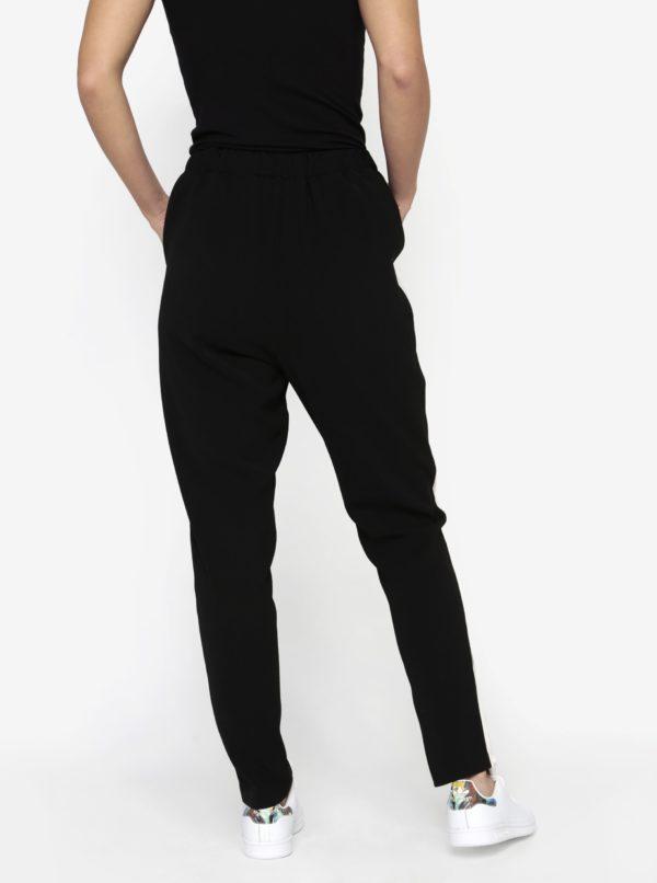 Čierne nohavice s krémovým pruhom na vonkajšej strane MISSGUIDED