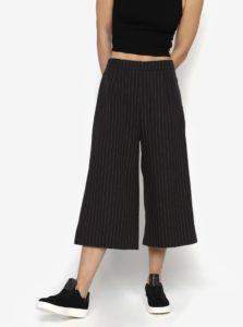 Čierne pruhované culottes nohavice MISSGUIDED