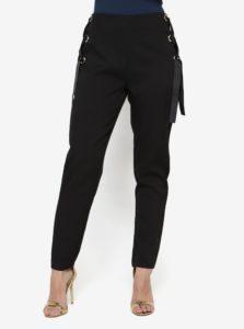 Čierne nohavice so šnurovaním MISSGUIDED
