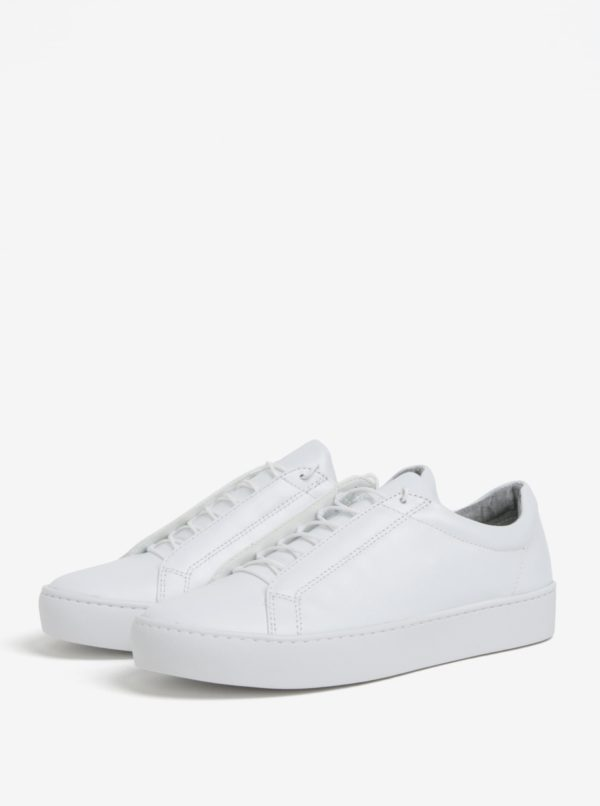 a3c42ac5d954 Biele dámske tenisky na platforme Vagabond Zoe